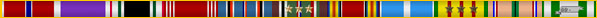 Seperator bar of eleven military award ribbons